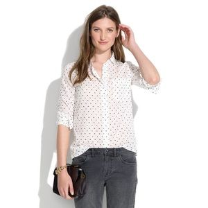 Madewell Heart Dot Eden Boy Button Down Shirt S